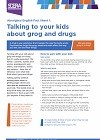 Talking to your child about grog and and drugs fact sheet image