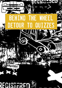 Behind the Wheel  Detour to Quizzes cartoon car image