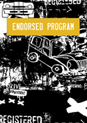 Endorsed program cartoon car image